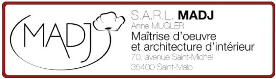Logo MADJ Saint-Malo - Maitrise d'oeure et architecte d'intérieur