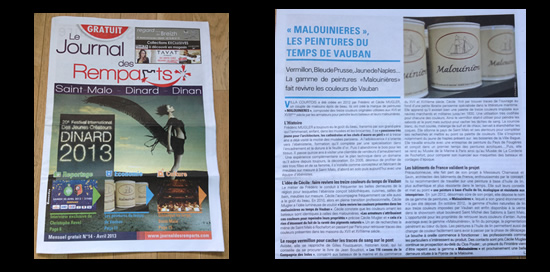 Les peintures Malouinières dans le Journal des Remparts