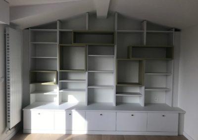 Bibliothèque sur mesure par Villa Courtois à Saint-Malo