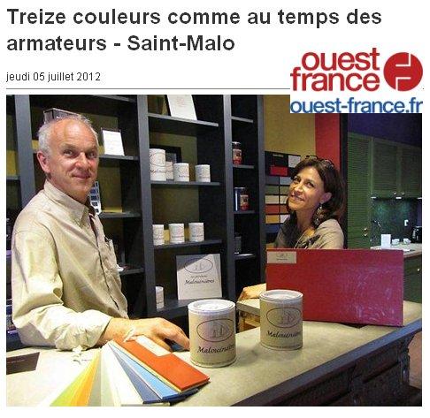 Treize couleurs comme au temps des armateurs - Saint-Malo Ouest France