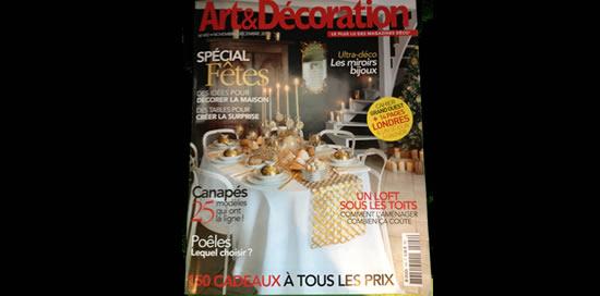 Villa Courtois dans «Art & Décoration» – Nov/Déc 2013