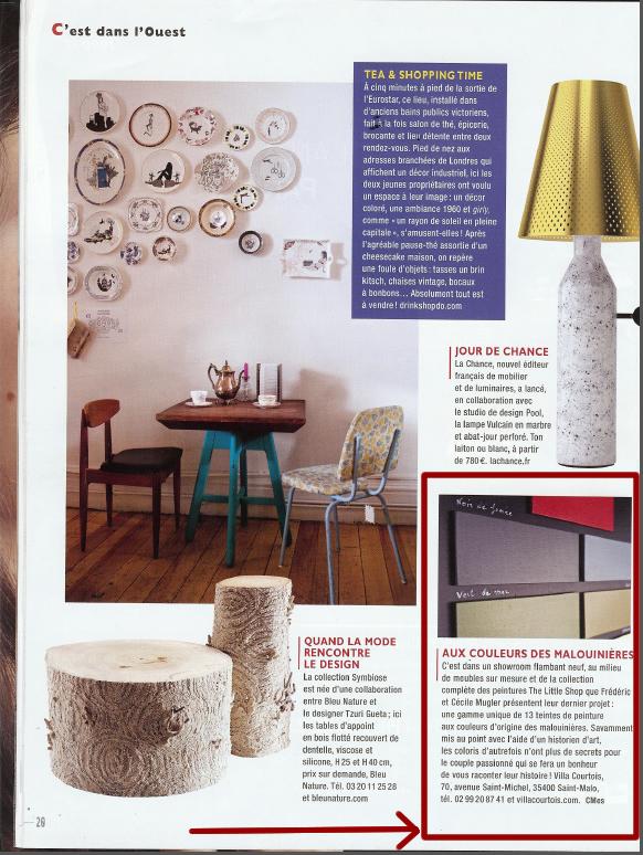 Villa Courtois dans le magazine Côté Ouest novembre 2012